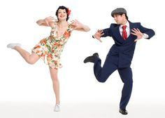 Charleston swing dancing - but this is crazy dancing. Delirious loves this too