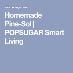Homemade Pine-Sol | POPSUGAR Smart Living