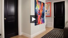 """Update & Add Drama To Interior Doors / (I believe he said """"Deep Space"""" by Behr)"""