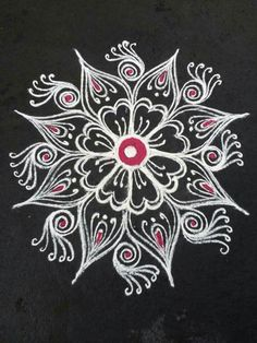 Simple Rangoli Designs Images, Rangoli Designs Latest, Latest Rangoli, Colorful Rangoli Designs, Beautiful Rangoli Designs, Rangoli Patterns, Rangoli Kolam Designs, Indian Rangoli, Easy Rangoli