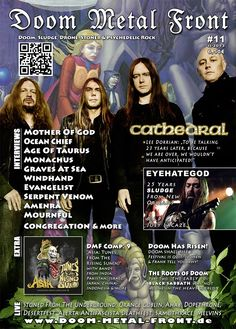 Cathedral on cover of doom mag