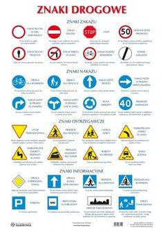 Plansze edukacyjne - Znaki drogowe | www.edufit.pl | Artykuły dla dzieci i przedszkoli | Wyposażenie | Meble | Pomoce dydaktyczne