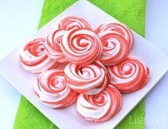 Peppermint Meringue Cookies from LilaLoa inkatrinaskitchen.com #BringtheCOOKIES