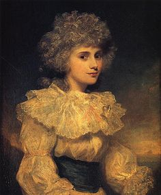 Lady Elizabeth Foster, 1787.  In 1782, Bess met the Duke and Duchess of Devonshire in Bath, and quickly became Georgiana's closest friend.  She lived in a ménage a trois with Georgiana and her husband, William, the 5th Duke of Devonshire, for about 25 years. She bore a son and a daughter by the Duke, who were raised with the Duke's legitimate children by Georgiana. Lady Bess married the Duke in 1809, three years after the death of his first wife.