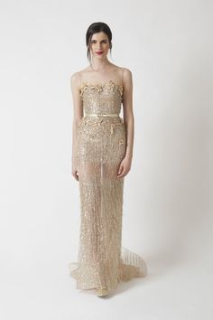 A wonderful non-traditional wedding dress for a formal affair or a New Year's Eve celebration!