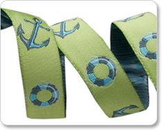 """5/8"""" Green Anchor - Tula Pink picture"""