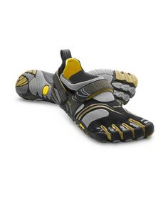 Take a look at this Black & Gold KomodoSport Fitness Shoe - Men by Vibram FiveFingers on #zulily today!