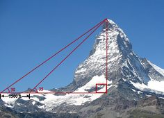Using quadratics to find the height of a mountain.