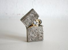 Ornate Silver Lighter by boxofhollyhocks on Etsy, $112.00