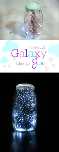 Galaxy in a jar in just 10 minutes. No paint required. This is so much fun. #CreativeGalaxy AD