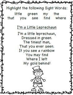 I'm a Little Leprechaun Poem