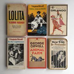 "macrolit: ""Vintage paperback classics by Virginia Woolf, George Orwell, Vladimir Nabokov, & Oscar Wilde "" Book Nerd, Book Club Books, Book Lists, Good Books, Books To Read, My Books, Literature Books, Classic Literature, Classic Books"