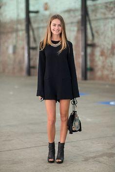 ....short black dress and kick ass shoes! Now only if the dress was a little bit longer!! Just a little bit!!