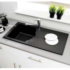 The compact nature of the Dart makes it perfect for smaller kitchens and is a perfect blend of style and practicality Granite Kitchen Sinks, Single Bowl Kitchen Sink, Luxury, Modern, Compact, Kitchens, Thimble, Nature, Cottage