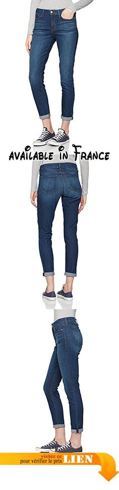 B01MG1V406 : NYDJ Annabelle Jeans Femme Blue (Atlanta) 32/L28. Commandez une taille en dessous !. 'Slimming Technology' exclusive. Pan amincissant avec design criss cross breveté. Taille haute style 5 poches. Fermeture éclaire et bouton