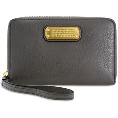 Marc by Marc Jacobs Wingman Q Wristlet - Faded Aluminum - Handbags -... (660 HRK) ❤ liked on Polyvore featuring bags, handbags and clutches