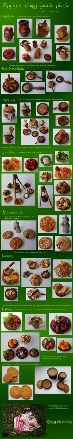 The Hobbit, Lord of the Rings #miniature  picnic - close-up by *geekySquirrel Love! ~AF