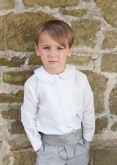 Traditional Page Boy Shirts, Boys Peter Pan Shirt, Pageboy Outfits Pageboy Outfits, Peter Pan Shirt, Shirting Fabric, Page Boy, Boys Shirts, Wedding Suits, Boy Fashion, Ushers, Cotton