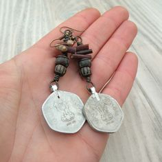 Indian Coin Earrings Gypsy Assemblage Dangles Sea by GypsyIntent, $28.00