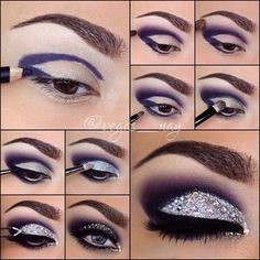 Beautiful Sparkly Purple Eyeshadow Tutorial                                                                                                                                                                                 Mehr