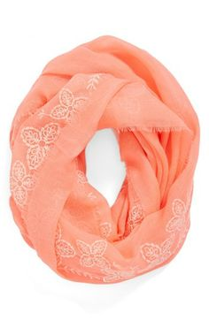 BP. Floral Trim Infinity Scarf (Juniors) available at #Nordstrom