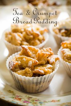 Sophisticated Tea and Crumpet Bread Pudding