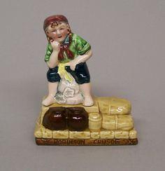 Vintage Stacking Storybook Salt Pepper Shaker ROBINSON CARUSO Japan