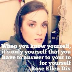 Some wise words from Rose Ellen Dix...