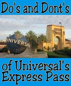 Thinking of buying Express Pass for your Universal Orlando vacation? Check out our list of Dos and Donts of Universal Express Pass to make the most of it! - Travel Orlando - Ideas of Travel Orlando Orlando Travel, Orlando Vacation, Disney World Vacation, Florida Vacation, Florida Travel, Disney Trips, Orlando Disney, Downtown Disney, Cruise Vacation