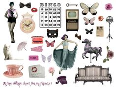 Another free collage sheet