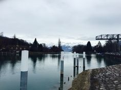 Lake Thun as we were walking closer and closer to the Alps. Lake Thun, Alps, Switzerland, Closer, This Is Us, Walking, River, Outdoor, Outdoors
