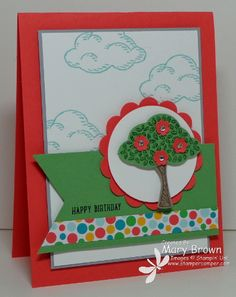 stampercamper.com - Here's another card we did at my June card class. LOVE the new Ronald McDonald House Charity set! All the details on my blog. Set: Sprinkles of Life