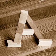 Block Type Experiment wood typography