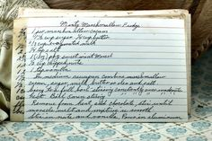 A classic vintage recipe from the files - Minty Marshmallow Fudge