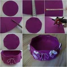 DIY Felt Basket diy crafts craft ideas diy crafts do it yourself diy projects crafty felt do it yourself crafts felt crafts Felt Diy, Felt Crafts, Diy And Crafts, Craft Projects, Sewing Projects, Basket Organization, Felt Flowers, Easy Diy, Crafty