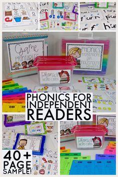 phonics - phonics activities - phonics games - RTI phonics - phonics lessons - long vowel phonics