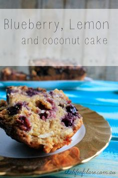 Blueberry, Lemon and Coconut Cake - The Life of Clare