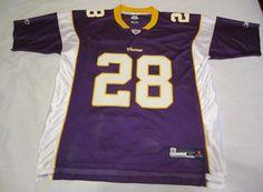 Authentic Reebox Replica NFL Minnesota Vikings #28  Adrian Peters Jersey Size XL