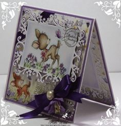 Beautiful Birthday card Using Wild Rose Studio Dies - Floral Frame Image - Bluebell with Butterfly Papers - Bluebell Sentiment - Birthday Greetings
