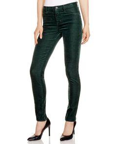 J Brand Skinny Cords in Forrest Green - 100% Bloomingdale's Exclusive