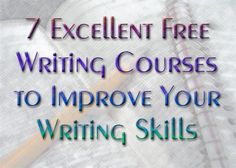 7 Excellent Free Online Writing Courses to Improve Your Web Writing Skills - great links, Im already making my way through the Purdue OWL writing excercises Owl Writing, Writing Quotes, Writing Advice, Writing Resources, Writing Help, Writing Skills, Writing A Book, Writing Ideas, Writing Classes