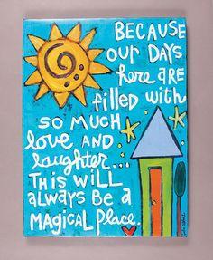 Magical PlaceArt Canvas par julieabbottart sur Etsy
