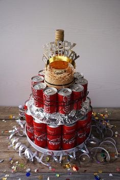 16 Birthday Presents, Diy Birthday, Birthday Gifts, Sweet 16 Presents, Diy Presents, Liquor Bouquet, Candy Bouquet, Alcohol Cake, Alcohol Gifts