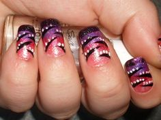 Cheshire Cat Inspired Abstract Design - Nail Art Gallery