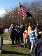 Merrimack Police Honor Guard at the Veteran's Day Ceremony at Last Rest Cemetary...