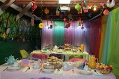 (Photo 1 of 5)  My Very Merry 30th Unbirthday party setup. Inspired by Alice in Wonderland's Mad Hatter tea party. option 2