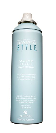 """Alterna Bamboo Style Ultra Hold Hair Spray, $22; amazon.com  Hairstylist Tippi Shorter put this spray through the ringer at an all-day shoot: """"We did eight different hairstyles on my client, and her hair held up without getting stiff or flaky,"""" she marveled.   - Redbook.com"""