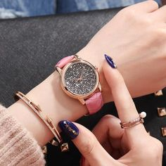 SANDA Brand Fashion Women Watches 2018 Luxury Full Diamond Quartz Wristwatch Leather Ladies Watch Woman Clock relogio feminino From Touchy Style Outfit Accessories. Best Kids Watches, Cheap Watches, Cool Watches, Wrist Watches, Look Fashion, Fashion Brand, Fashion Women, Teenager Fashion Trends, Look Plus Size