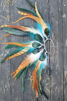 Feather Ear Cuff  Autumn Eyes by Njuu on Etsy, $27.00