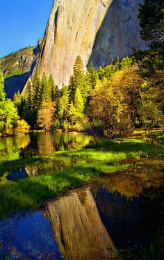 Elcap Reflection by Mountain Man JC13, via Flickr; Yosemite National Park, California
